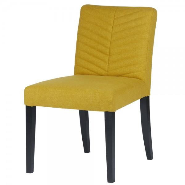 Esszimmerstuhl NORA ocker Stuhl Polsterstuhl Stoff Esszimmer Küchenstuhl