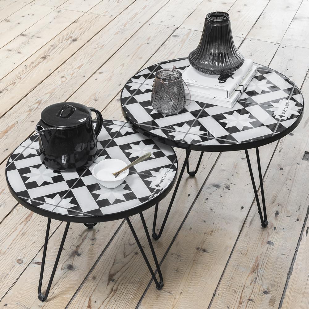 beistelltisch couchtisch sultan rund fliesen tisch. Black Bedroom Furniture Sets. Home Design Ideas