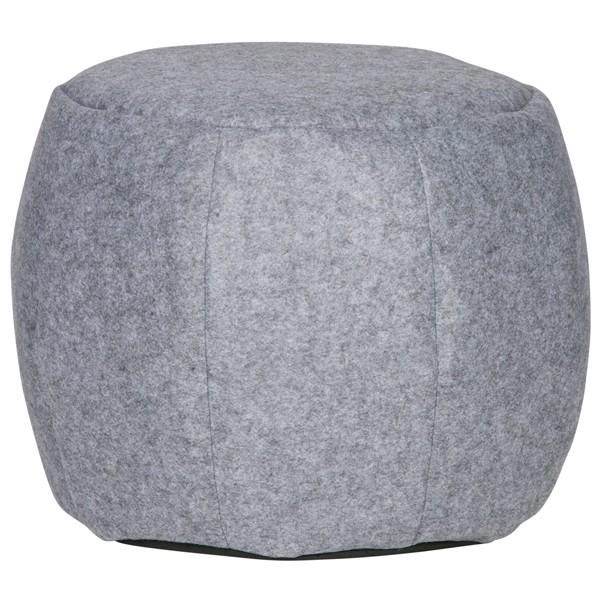 Sitzhocker SEF Ø 53 cm Pouf Hocker Fußablage Sitzpouf Polsterhocker Filz grau