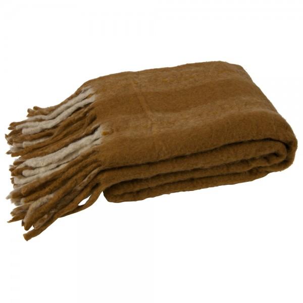 Vintage Tagesdecke Hug 170 x 130 cm Wolle Decke Wolldecke Sofadecke Fransen