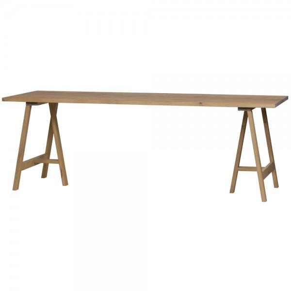 2er Set Tischbeine Brace Eiche Massivholz Tischbein Holzlbeine Tischfüße