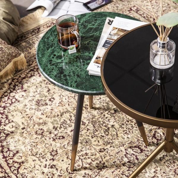 Beistelltisch Marvelous Ø 40 cm Anstelltisch Sofatisch Tisch Marmor Couchtisch