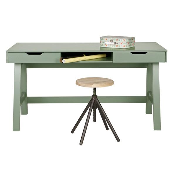 Schreibtisch NIKKI Kinder Holz Tisch Schulschreibtisch Jugendschreibtisch grün