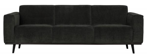 BePureHome 3 Sitzer Sofa Statement Rib Cord graphite Couch