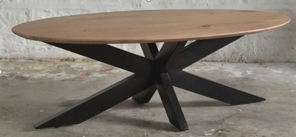 Couchtisch Oslo Oval 130 x 70 cm Akazie Holz