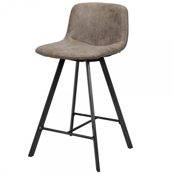 Barstuhl FLORA Barhocker Kunstleder dunkelbraun Sitzhocker Stuhl
