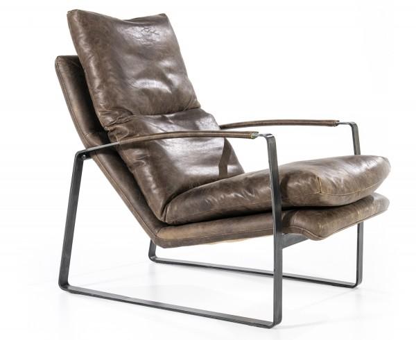 Lounge Sessel LEX Leder Vintage braun Fernsehsessel