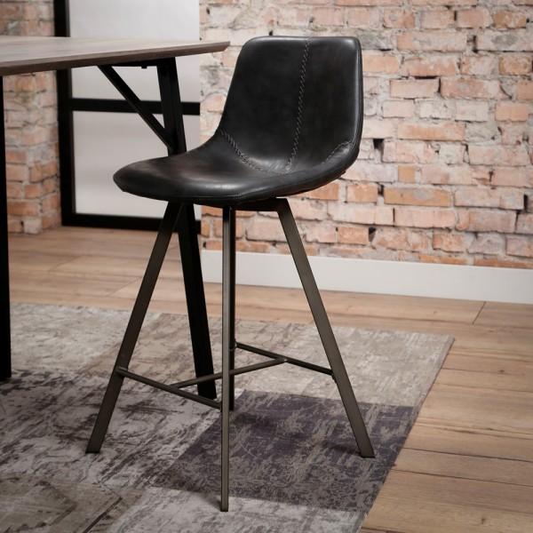 Barstuhl SADDLE schwarz Barhocker Sitzhöhe 68 cm