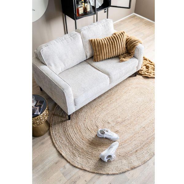 Jute Teppich Ramas 200 x 300 cm oval natur Juteteppich
