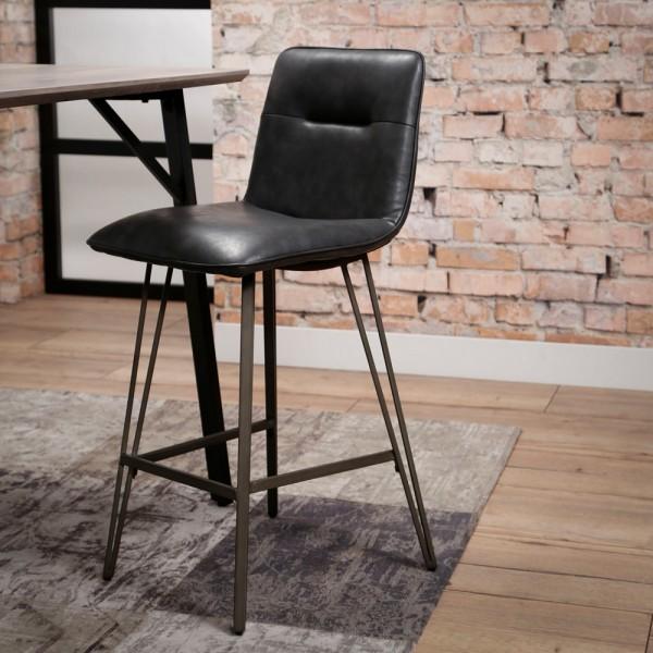 Barstuhl SPINE schwarz Barhocker Sitzhöhe 70 cm