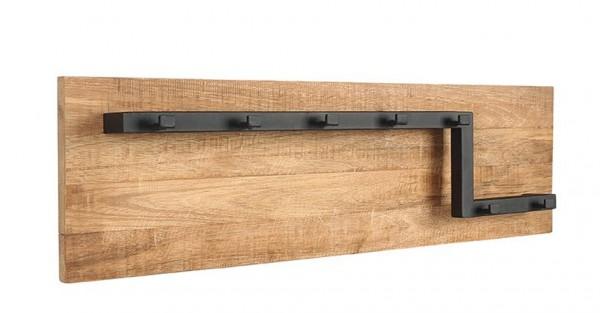 Wandgarderobe mit 7 Haken 90 cm Garderobe Mango Holz