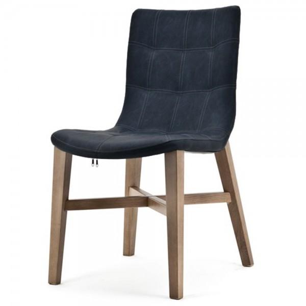 Design Stuhl NEBA blau Polsterstuhl