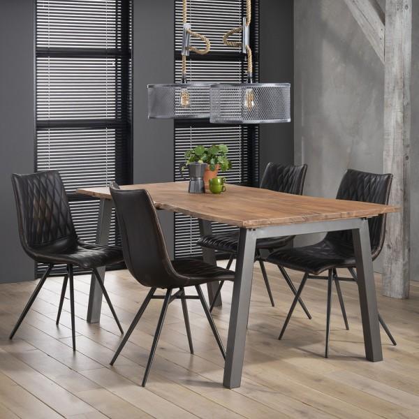 Esstisch 180 x 90 cm Baumkante Akazie Tisch