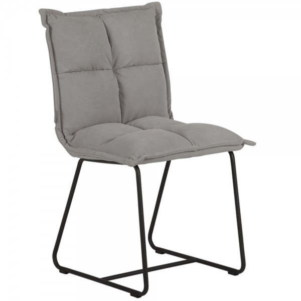 MUST Living 2er Set Esszimmer Stuhl CLOUD Cotton stonewashed grau
