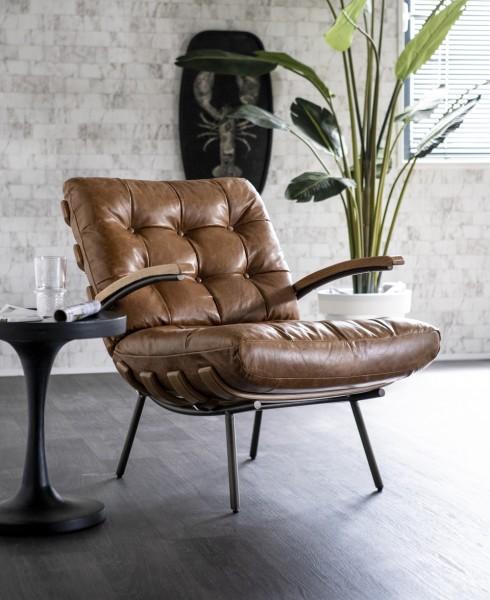 Ledersessel dunkelbraun Bastiaan Leder Loungesessel Sessel