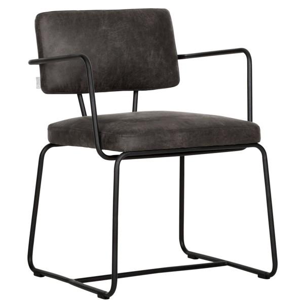 DTP Home Stuhl Armlehnstuhl Fox recyceltes Leder grau