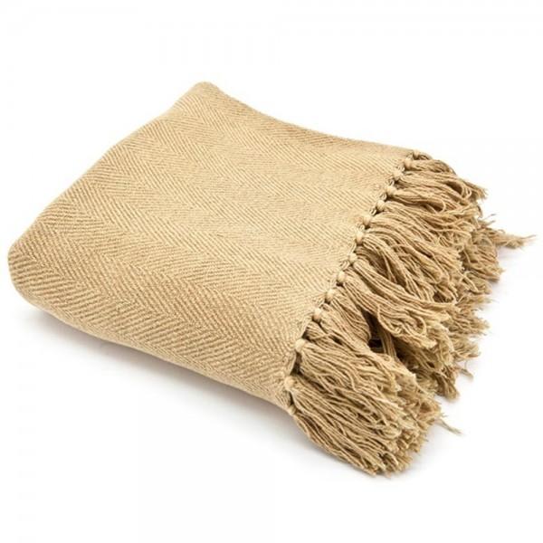 Vintage Ii Tagesdecke 170 X 130 Cm Baumwolle Decke Wolldecke Sofadecke Fransen