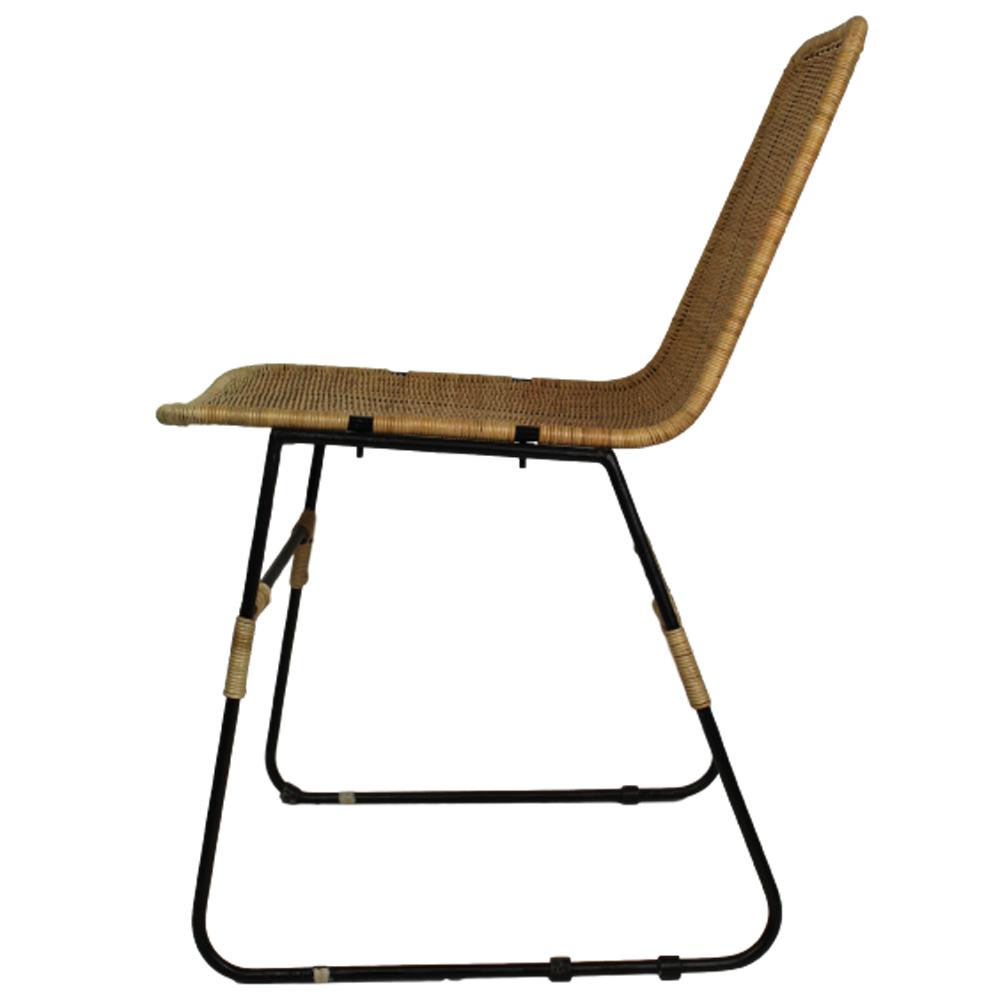 2er Set Esszimmerstuhl Industrial Stuhl Rattan schwarz Esszimmer Kufenstuhl