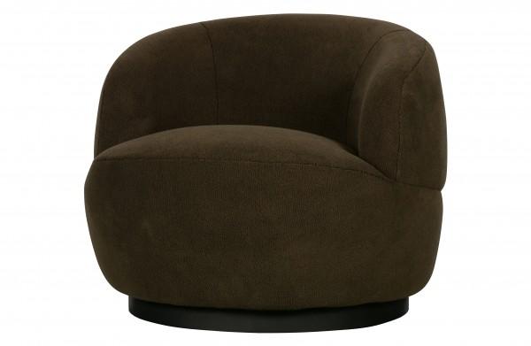 BePureHome Sessel Woolly dunkelgrün drehbar