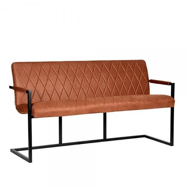 Esszimmerbank CESHO 155 cm Microfaser cognac Sitzbank