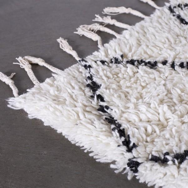 Teppich MENOS 170 x 240 cm Wolle beige Raute