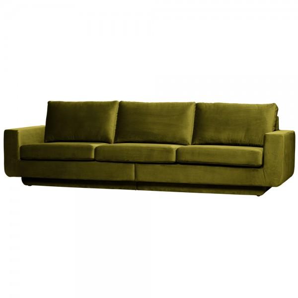 be pure 3 Sitzer Sofa Fame 282 cm Samt Velvet olive Couch