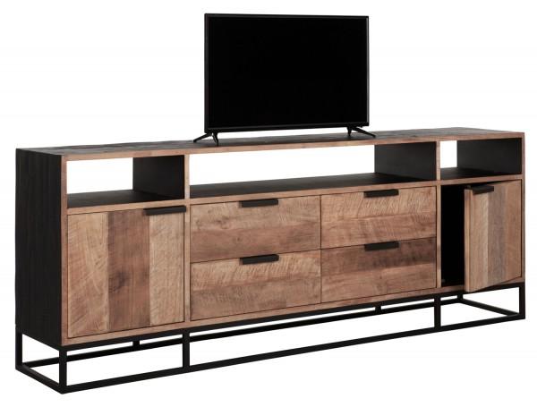 DTP Home TV Möbel Cosmo No.3 Teakholz Metall 200 cm Sideboard