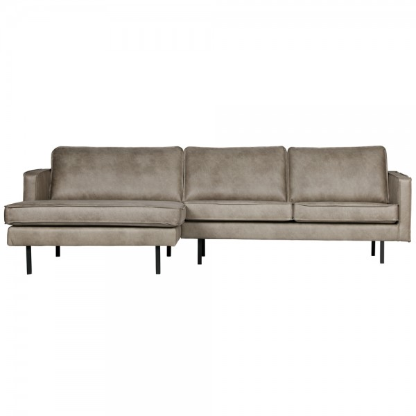 Eckgarnitur Rodeo Elefantenhaut grau Couch Sofa Ecksofa Longchair links