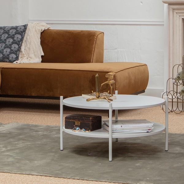 Couchtisch Tender Ø 71 cm Eschenholz nebelfarben Sofatisch Tisch Beistelltisch