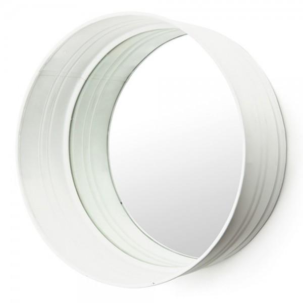 Spiegel rund Ø 40 cm Metall Mirror Wandspiegel Bad Flur Dekoration Deko