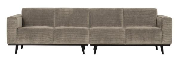 BePureHome 4 Sitzer Sofa Statement Rib Cord lehmfarben Couch
