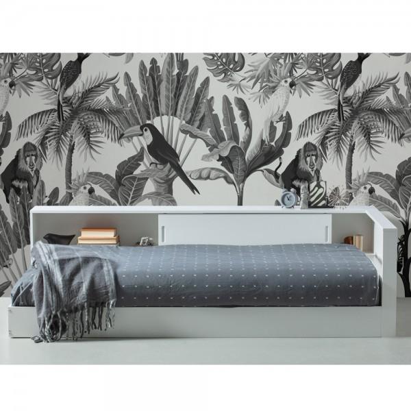 Eckbett Connect Bett 213 x 118 cm Kiefer weiß