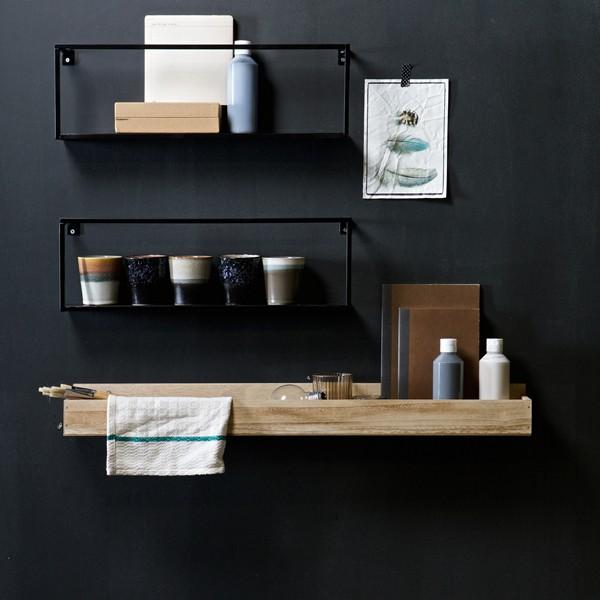 Ablageboard SIEM 80 x 11 cm MDF Holzdekor Bücherregal Dekoregal Wand Board