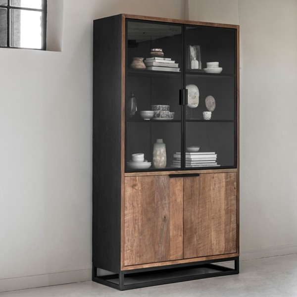 DTP Home Cosmo Vitrinen No.2 small recyceltes Teakholz
