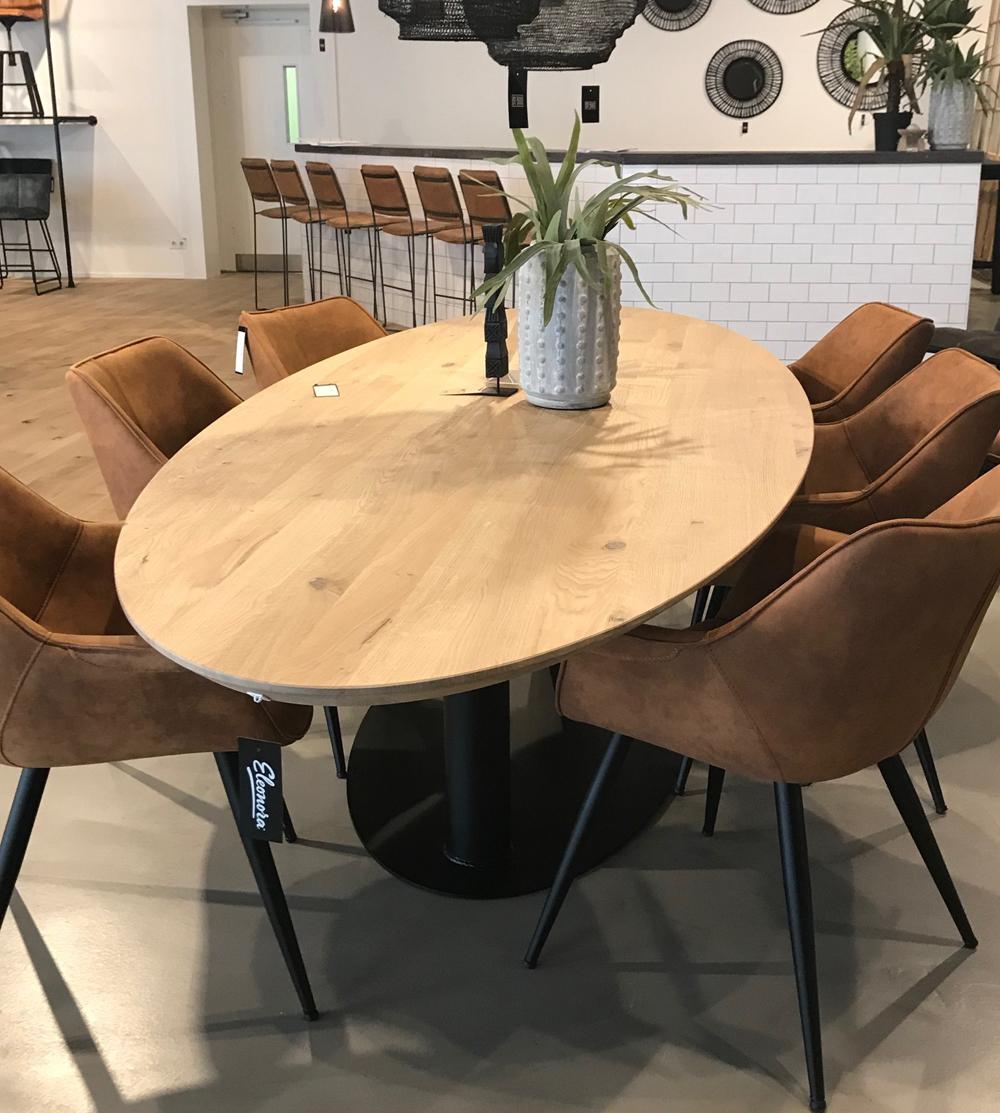 Esstisch Dining oval 240 x 110 cm Eiche natur Tisch Eleonora   Maison ESTO   Ihr großer Möbel ...