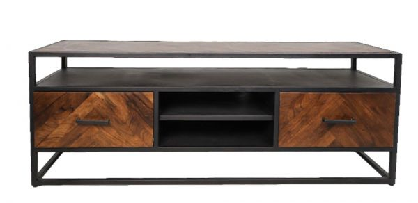 Industrie TV Möbel Saint Maxime 150 cm Akazie Metall