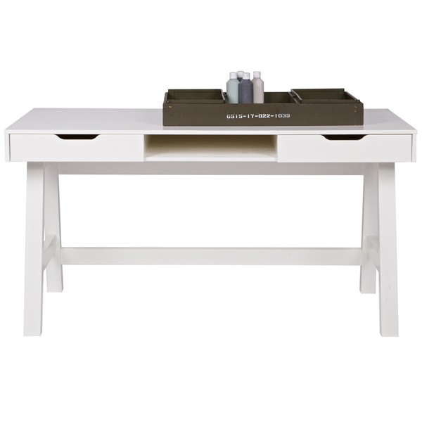 Schreibtisch NIKKI Kinder Holz Tisch Schulschreibtisch Jugendschreibtisch weiß