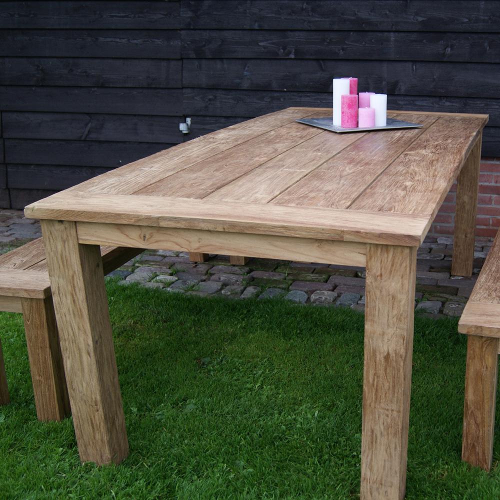 ... Vorschau: TEAK Gartentisch EVOY 120 X 80 Cm Esstisch Tisch Holztisch  Garten Teakholz Massiv ...