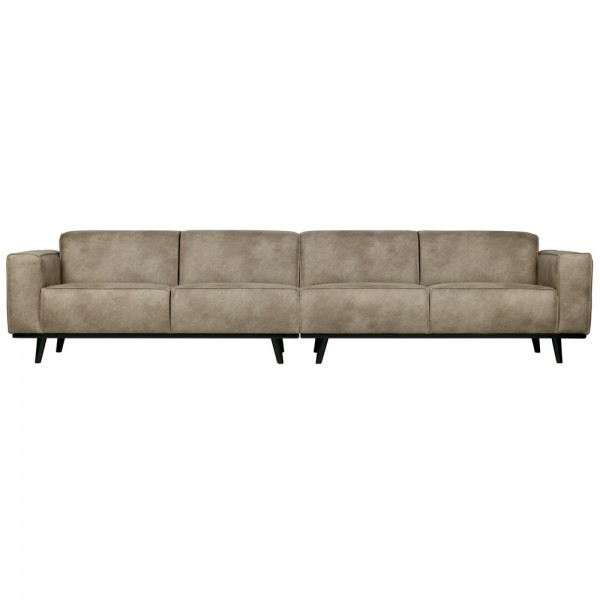 4 Sitzer Sofa STATEMENT XL Elefantenhaut grau Couch Garnitur Couchgarnitur