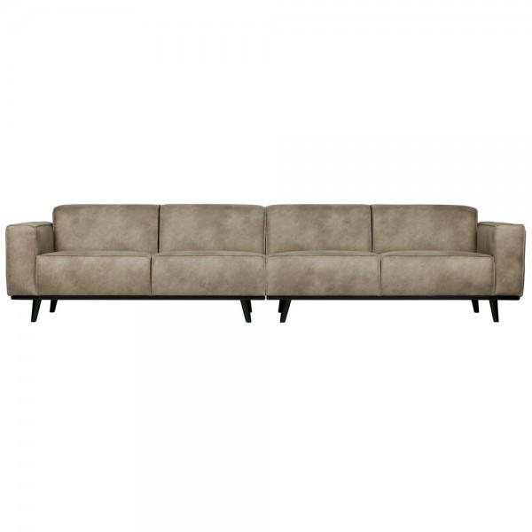 4 Sitzer Sofa STATEMENT XL Elefantenhaut grau Couch Garnitur Couchgarnitur