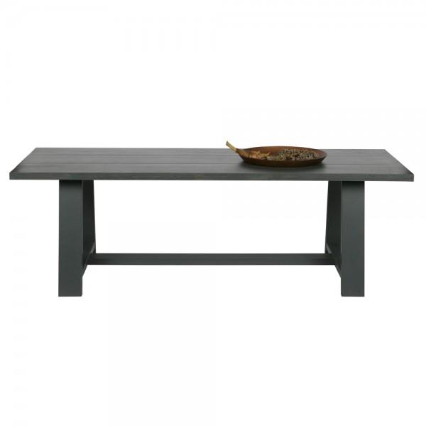 Esstisch SQUARE 230 x 90 cm Esszimmertisch Dinnertisch Massivholz Eiche Öl grau