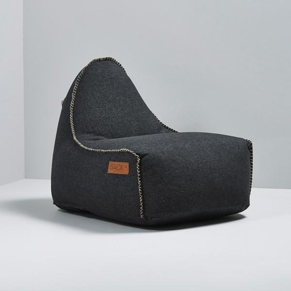 Garten Sitzsack Cobana für Drinnen und Draußen Retro Schwarz