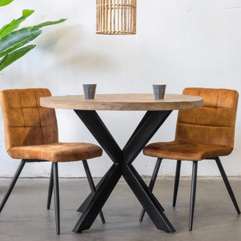 Esstisch Tris Rund O 100 Cm Mango Massivholz Metallgestell Schwarz Maison Esto Ihr Grosser Mobel Online Shop