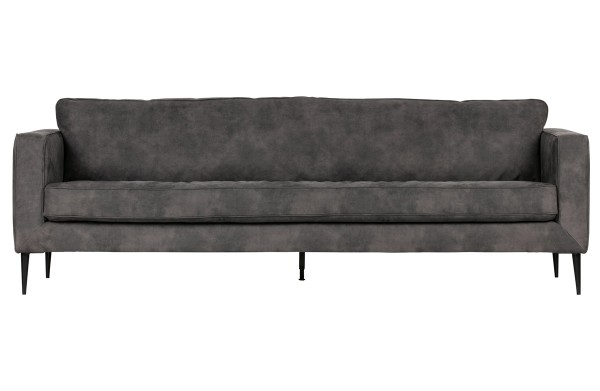 Sofa Crew 3-Sitzer grau Wildleder-Look Couch dunkelgrau vtwonen