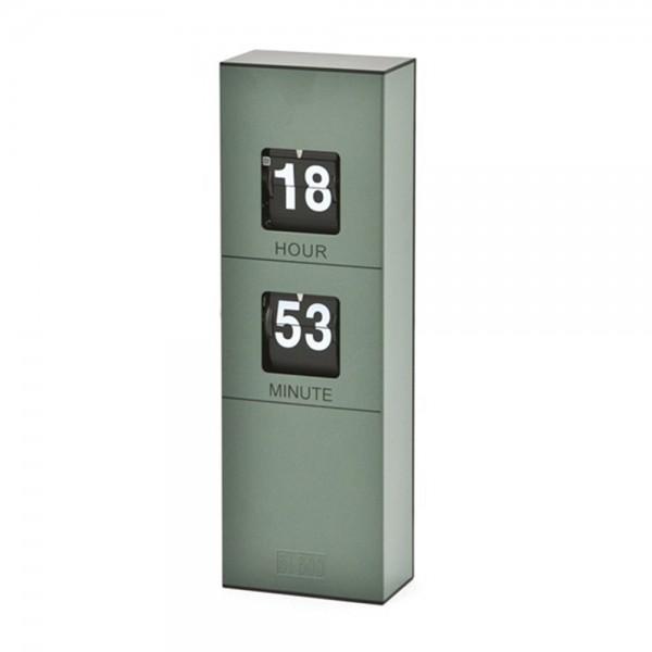 Standuhr Uhr BEN H 32,5 cm Tischuhr Batterie Kaminuhr Wanduhr Metall Flipuhr