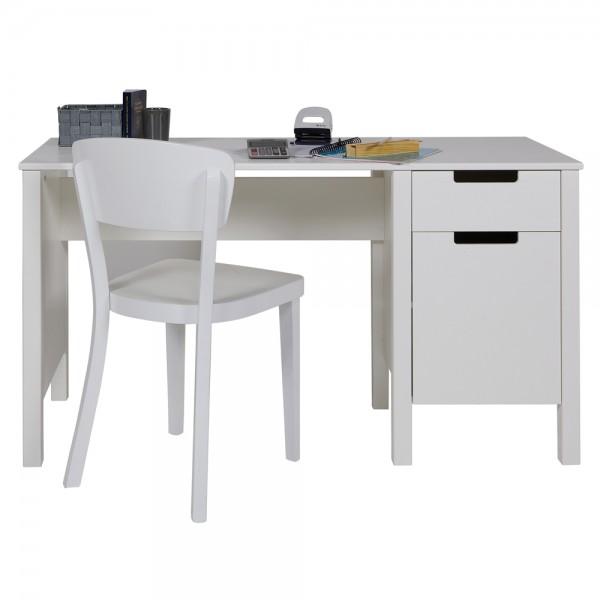 Schreibtisch JADE Kinder Kiefer Tisch Schulschreibtisch Jugendschreibtisch weiß