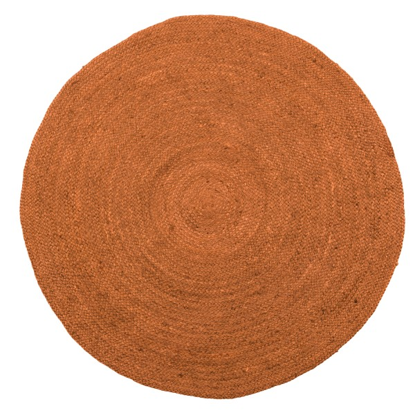 woood Teppich Ross ombre-braun rund Ø 150 cm Jute