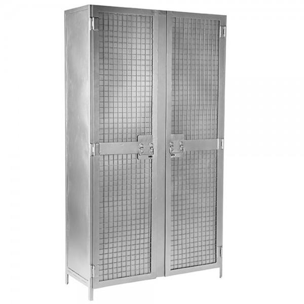 Metallschrank Gate grau Hochschrank Schrank Aufbewahrungsschrank 2 Türen Metall