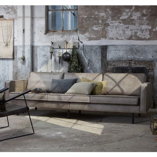 3 Sitzer Sofa Rodeo Elefantenhaut grau Lounge Couch Loungesofa Couchgarnitur