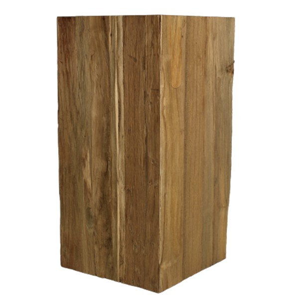 Hocker Sitz Sitzhocker 50 cm Stuhl PILLAR Teak Holz Massivholz natur Shabby